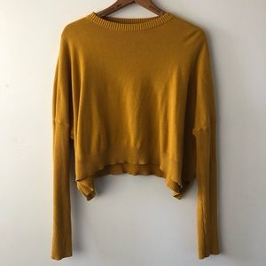 Silence+Noise Mustard Knit Sweater